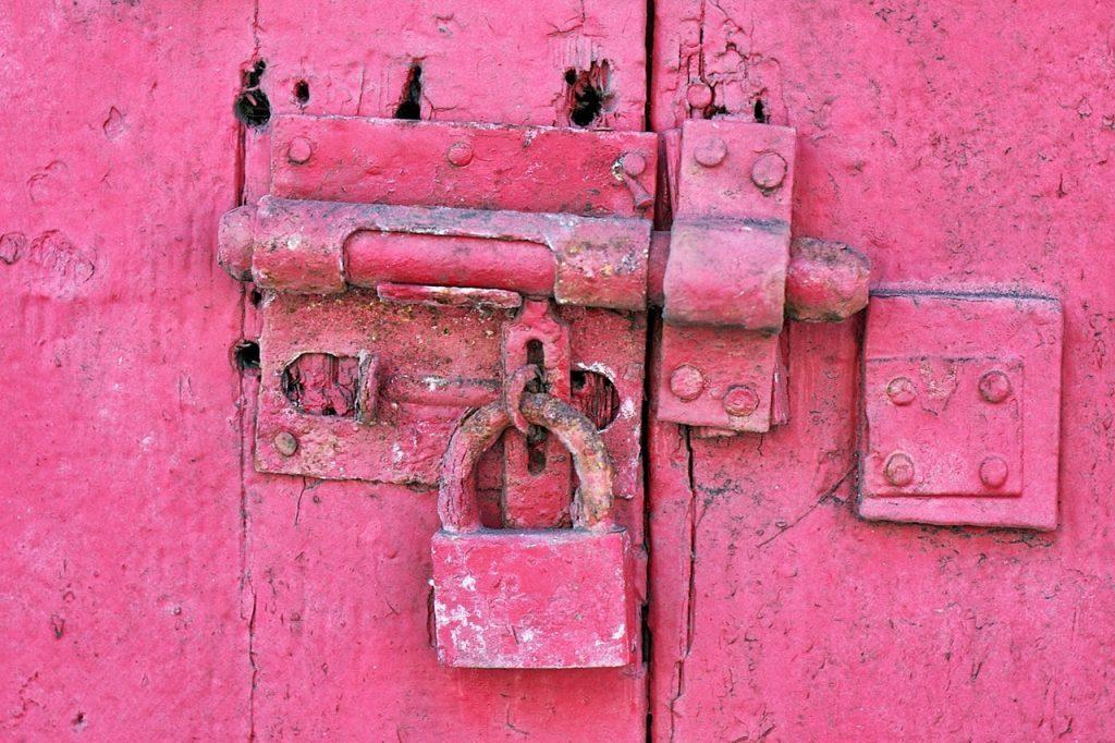 pink lock rustic
